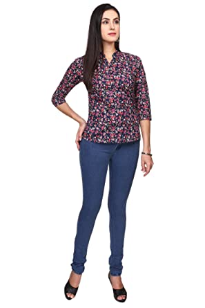 f17bc430704 First Fashion - Ladies Top, Cotton (Large): Amazon.in: Clothing ...