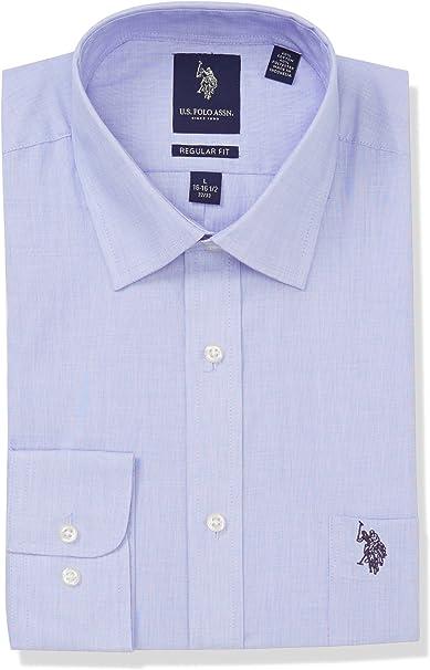 U.S. Polo Assn. Hombre 81008R Camisa de Vestir - Azul - 38 cm- 39 ...