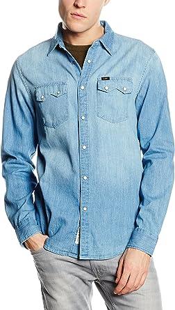 Lee Camisa Vaquera Rider Azul Denim L: Amazon.es: Ropa y accesorios