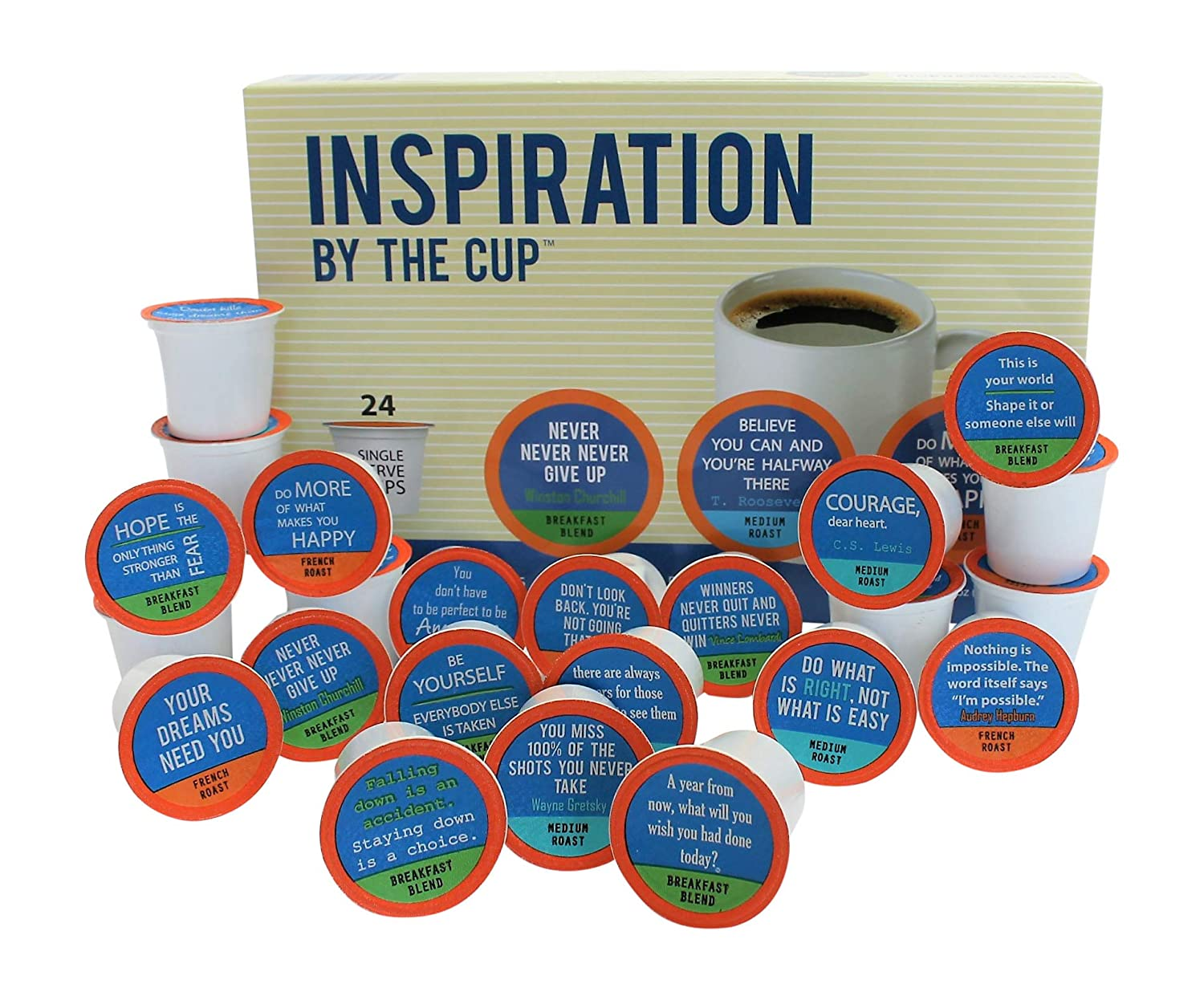 75c7f7f7 Inspiration by the Cup - 24 Inspiring Quotes On 24 Single Serve K-Cups:  Amazon.com: Grocery & Gourmet Food