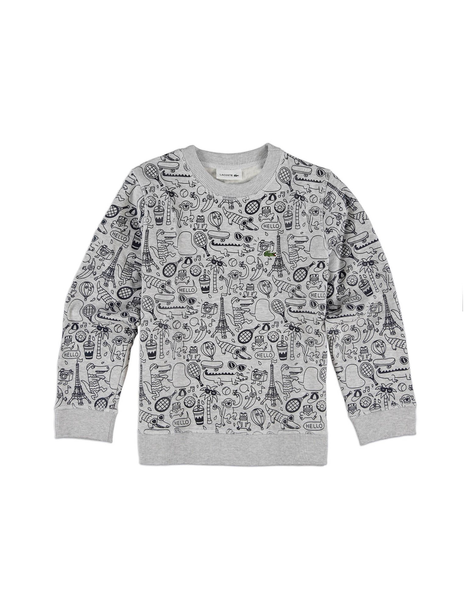 Lacoste Boy's Sweatshirt With Graffiti Print in Size 14 Years (164 cm) Off-White by Lacoste