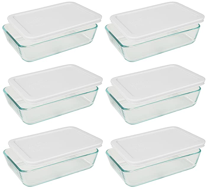 The Best Pyrex 3 Cup Rectangle Glass Food Storage