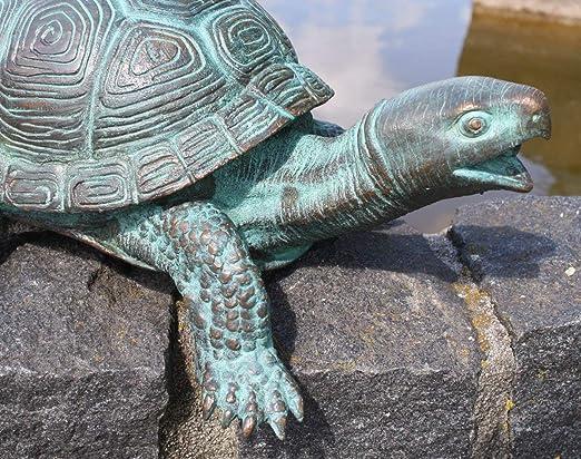 Schildkröte aus Bronze Wasserspeier Statue Tier Figur Dekoration 7131