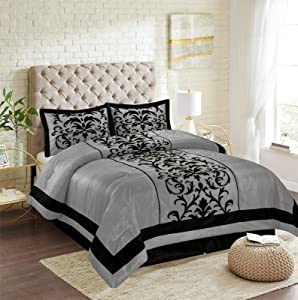 Empire Home 8-Piece Bed in A Bag Comforter Set (Gray, Full Size)