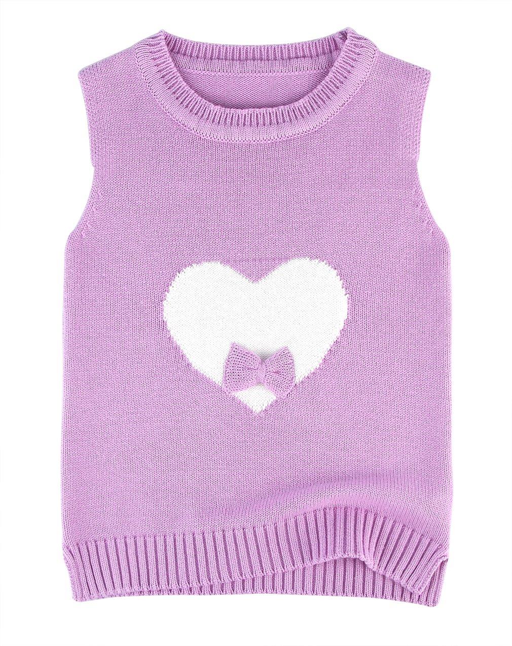La Vogue Baby Girls Cotton Warm Vests Infant Waistcoat Cable Knit Sweater Pink 100