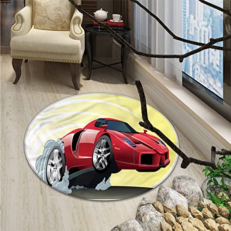 Amazon.com: Coches redondo alfombra de área Popular grande ...