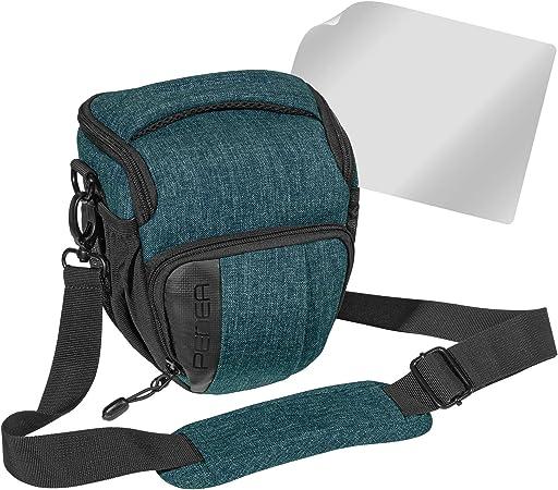 Funda para c/ámara r/éflex color azul claro Pedea con protector de pantalla para Canon EOS 5DS R, M6, M100, 100D, G1X Mark III, SX740 // Nikon Z6, D850 // Panasonic Lumix DC GH5, GX800, XL
