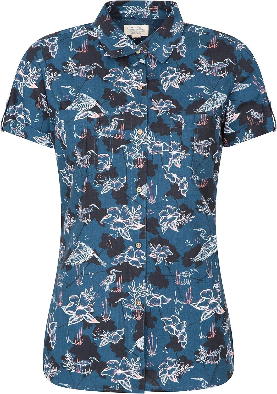 Mountain Warehouse Coconut Camisa de Las Mujeres Cortas de la Manga - 100% Tapa del Verano de Las señoras del algodón, Peso Ligero, Blusa de Breathable: Amazon.es: Ropa y accesorios