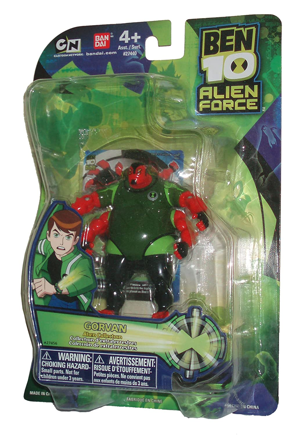 Ben 10 Alien Force Collection Series 4 Inch Tall Action Figure - Alien Collection GORVAN with Collectible Card