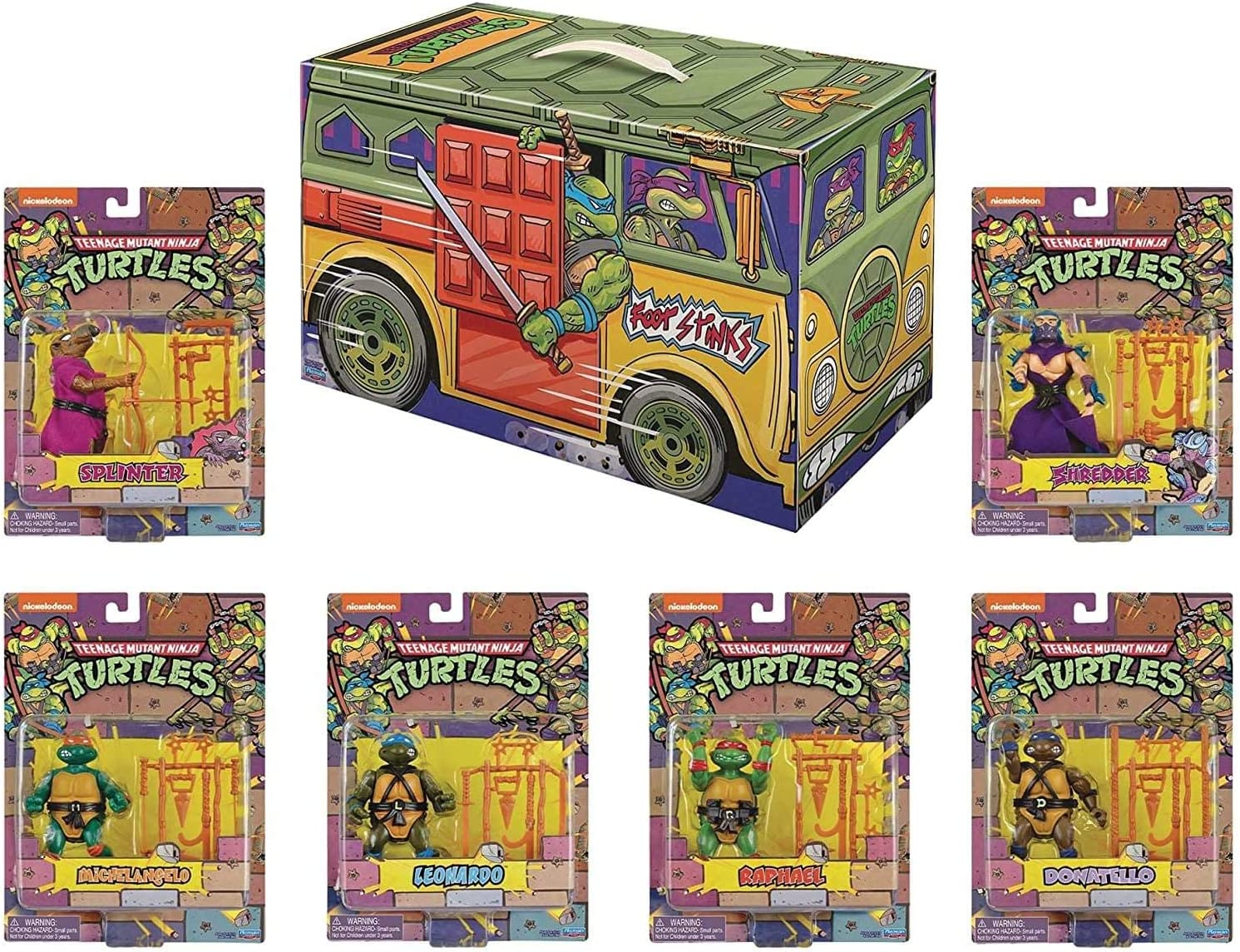 PlayMates TMNT Retro Rotocast PX 6PC Action Figure Set