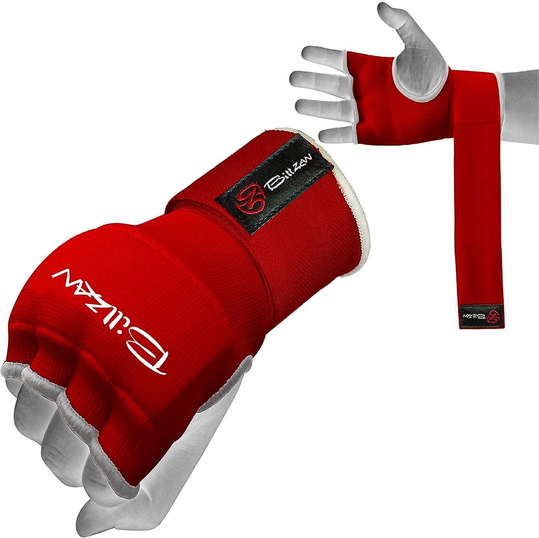 billzanトレーニングジェルパッド入りボクシングInner Large Gloves手ワープMMA Gloves手ワープMMA Fistプロテクター包帯レッド(ペア) B01B034MKO Large B01B034MKO, 五島糸店:c9f579cb --- capela.dominiotemporario.com