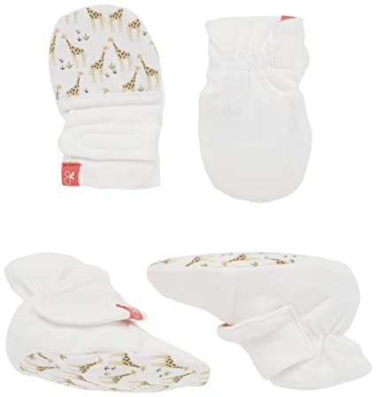 Stay On Scratch Proof Mittens New Goumikids Organic Mitts /& Booties Bundle