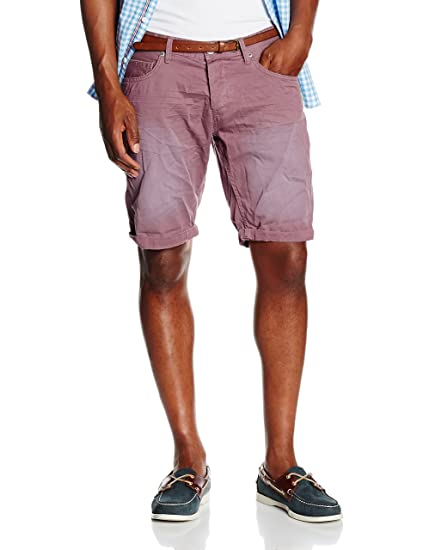 Colored Twill Bermuda, Short Homme, Rose (Dusty Orchid Mauve), 28WTom Tailor Denim