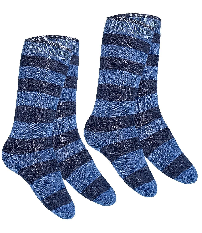 Ewers 1, 2 Ou 3 Paquet Filles Chaussettes Mi-Bas Thermiques De Marque Strié Pour Enfants (EW-601017-W17-MA7) incl. EveryKid-Fashionguide