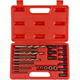 Neiko 04200A Screw and Bolt Extractor Kit, 25 Piece | Drive Nuts, Drill Bits and Drill Guides