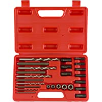 Neiko 04200A Screw and Bolt Extractor Kit, 25 Piece Drive Nuts, Drill Bits and Drill Guides