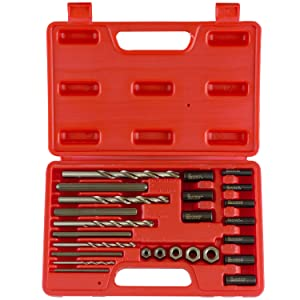 Neiko 04200A Drive Nuts, Drill Bits and Drill Guides Screw and Bolt Extractor Kit (25 Piece), Clear