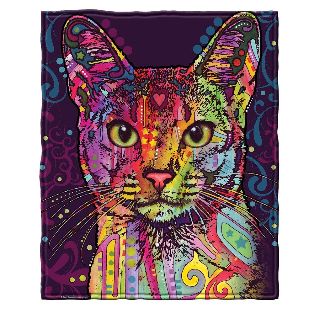 Dean Russo Confident Cat Fleece Throw Blanket