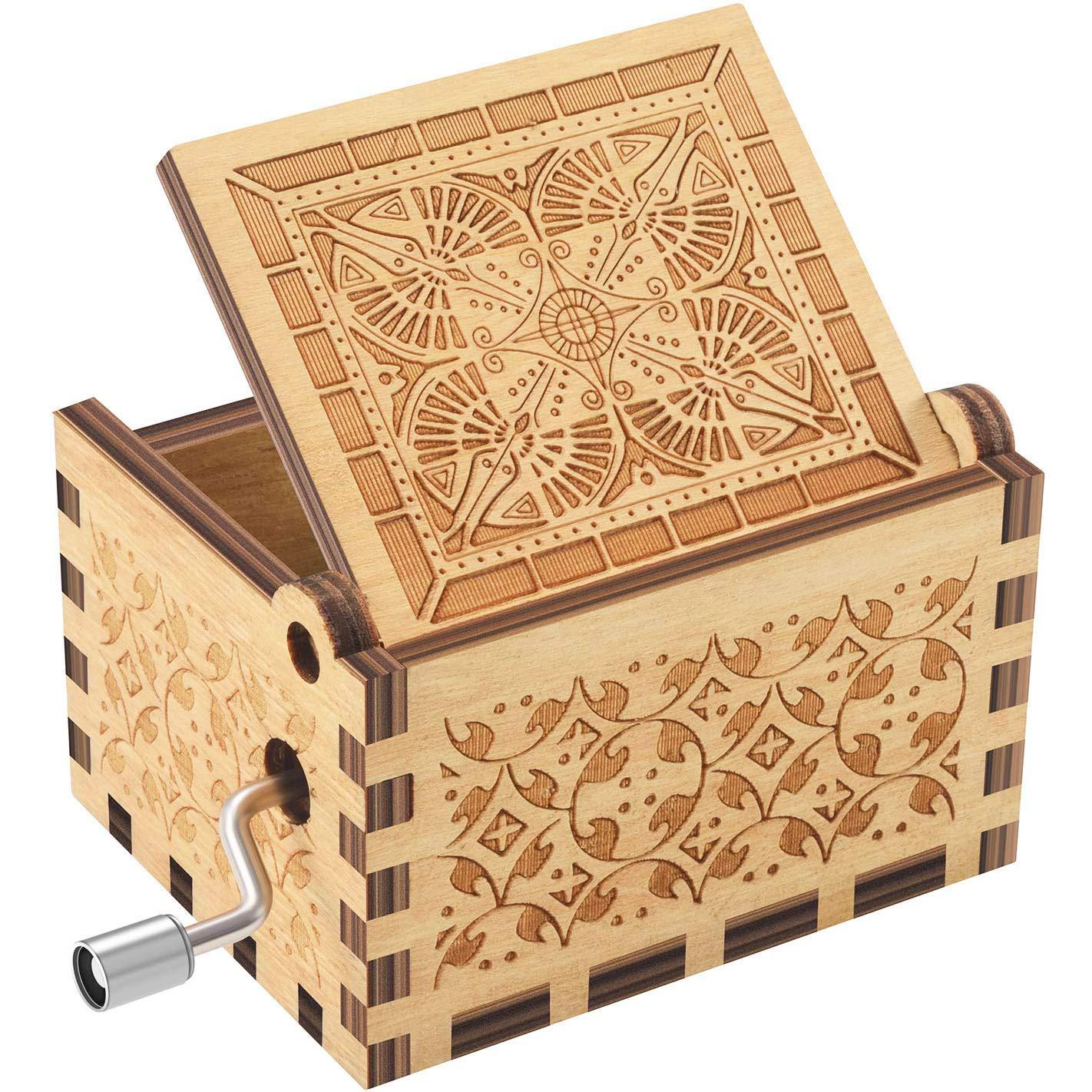 ukebobo Wooden Music Box 1 Set You are My Sunshine Music Box,Birthday Gifts
