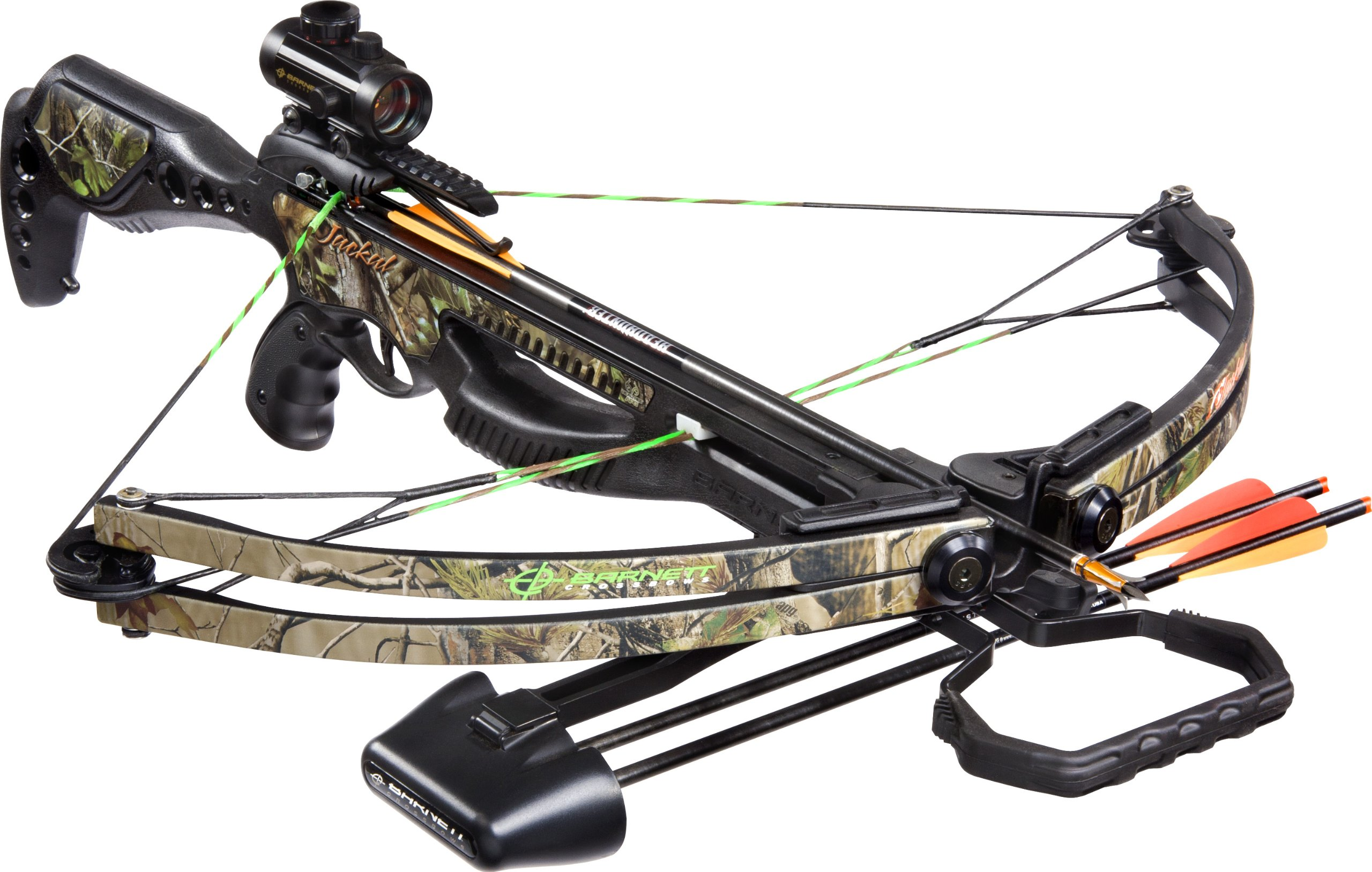 Barnett Jackal Crossbow Package (Quiver, 3 - 20-Inch Arrows and Premium Red Dot Sight)