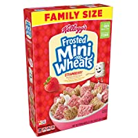 (Discontinued Version) Kellogg's Breakfast Cereal, Frosted Mini-Wheats, Strawberry...