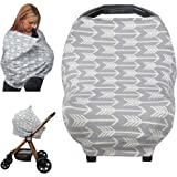 Nursing Cover, Car Seat Canopy, Shopping Cart, High Chair, Stroller and Car Seat Cover for Boys and Girls - Best Stretchy Infinity Scarf and Shawl - Multi Use Breastfeeding Cover Up - Arrow Pattern