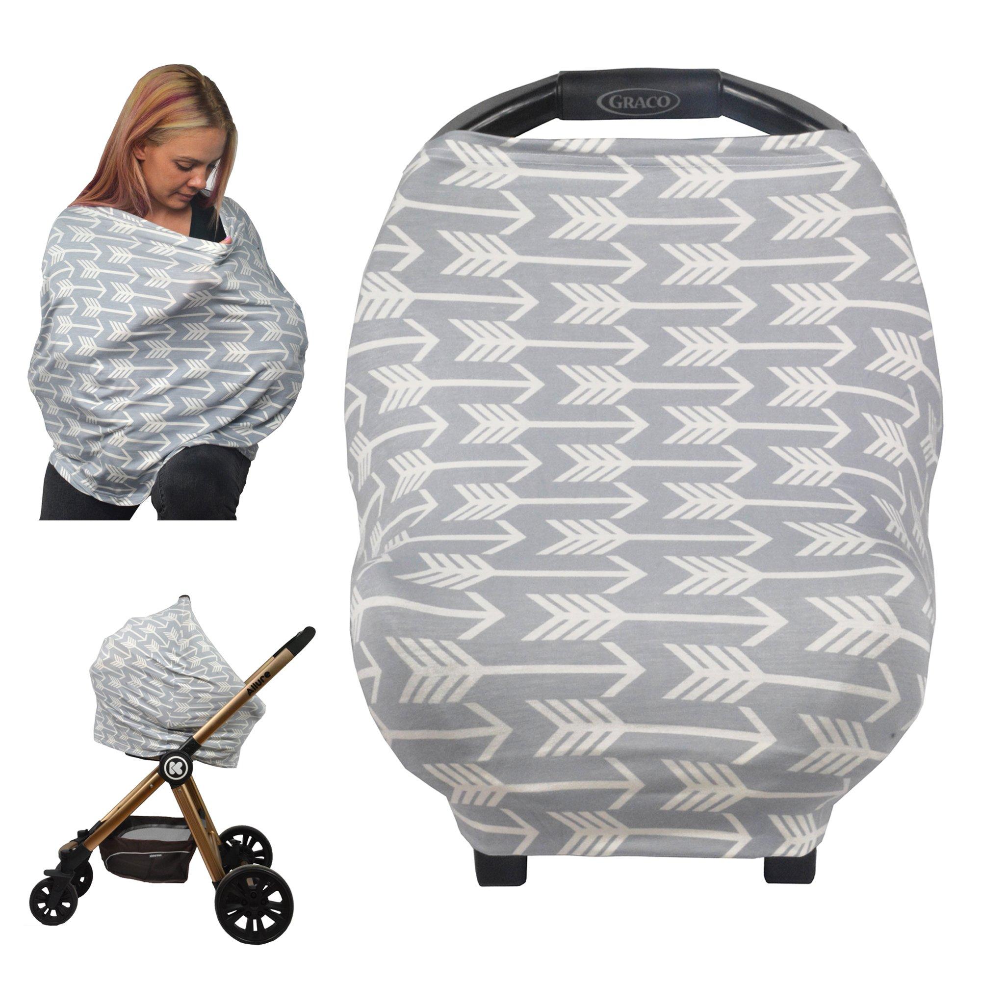 Nursing Breastfeeding Cover Car Seat Canopy Shopping Cart Chair Stroller