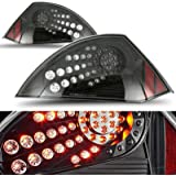 CCIYU Black Housing / Clear Lens LED Tail Light Assembly for 2000-2005 Mitsubishi Eclipse Pair Set