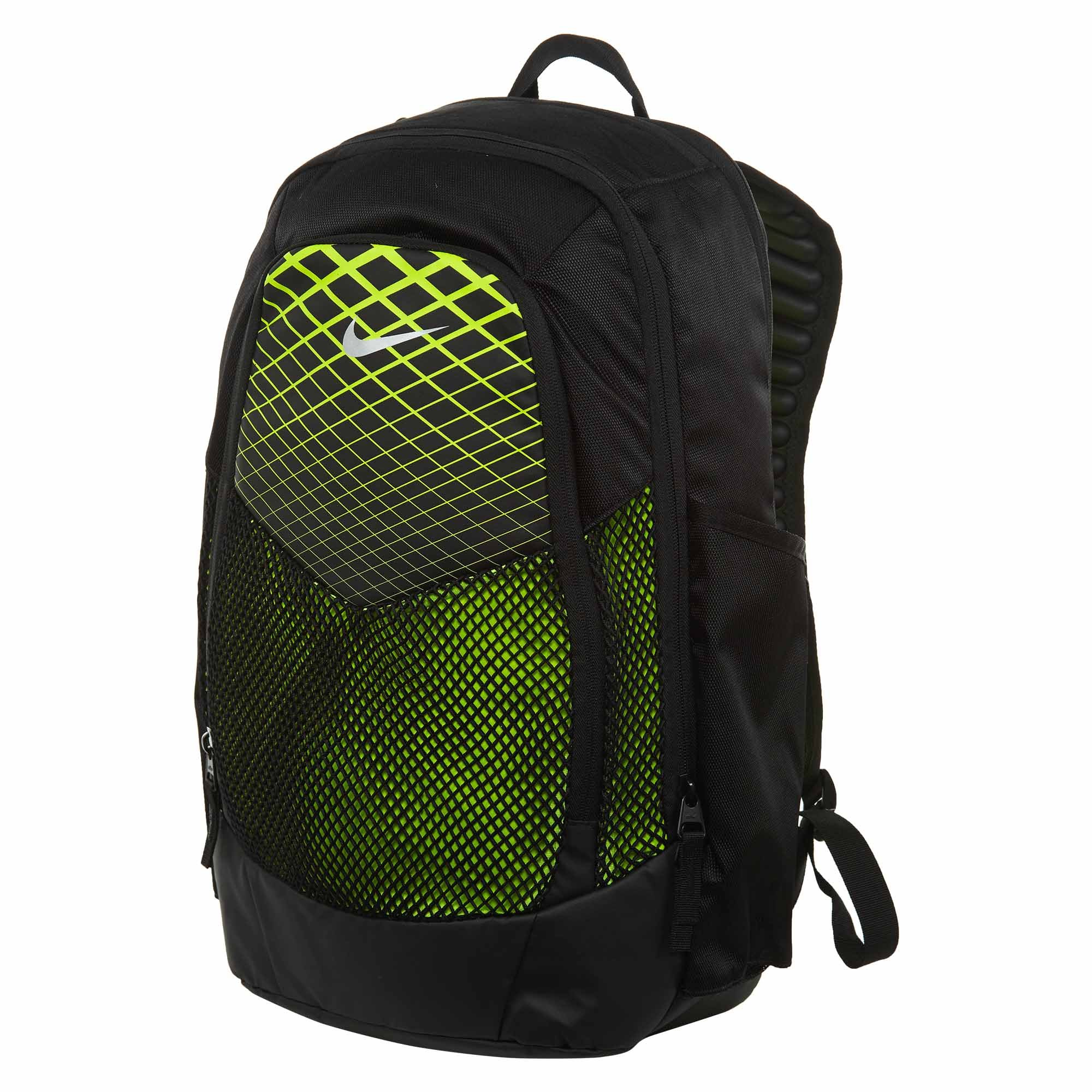 NIKE Vapor Power Training Backpack Black/Volt/Metallic Silver