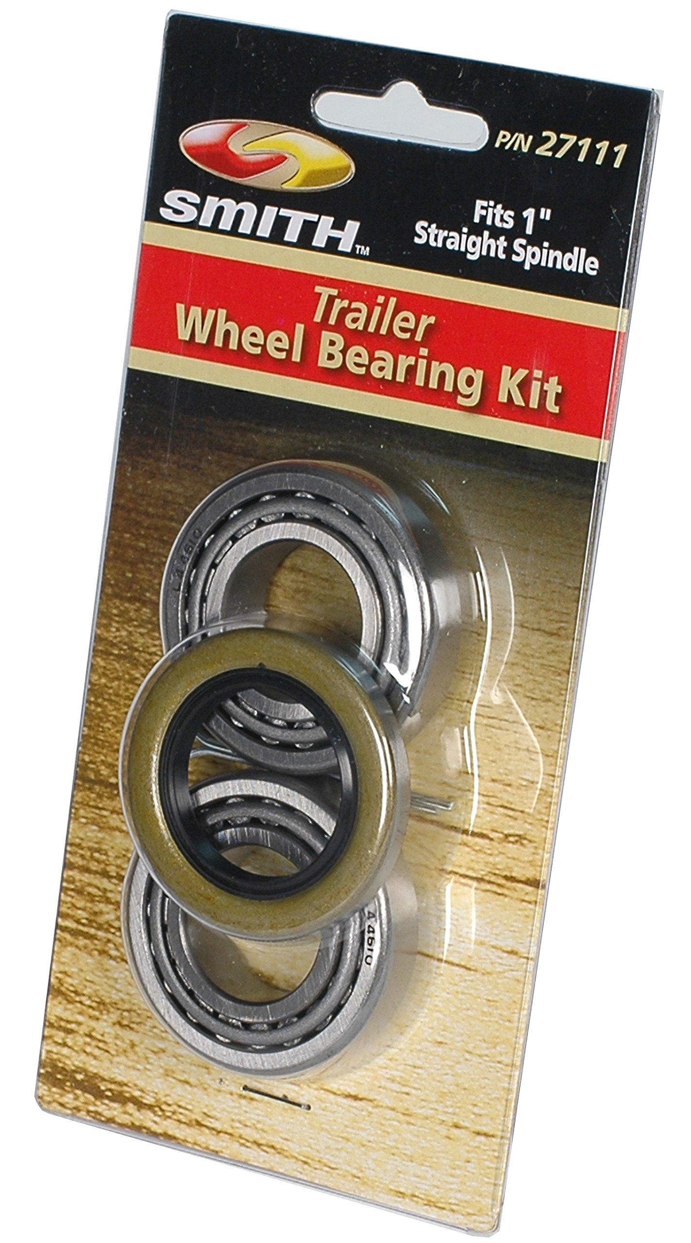CE Smith Trailer 27111 Bearing Kit (Straight), 1''- Replacement Parts and Accessories for your Ski Boat, Fishing Boat or Sailboat Trailer