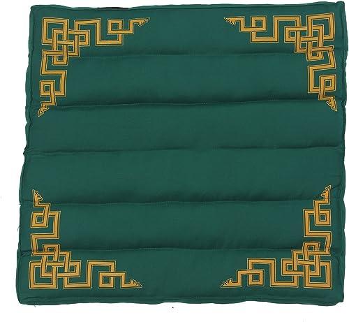 DharmaObjects Traditional Tibetan Yoga Meditation Accessory Cotton Mat Cushion