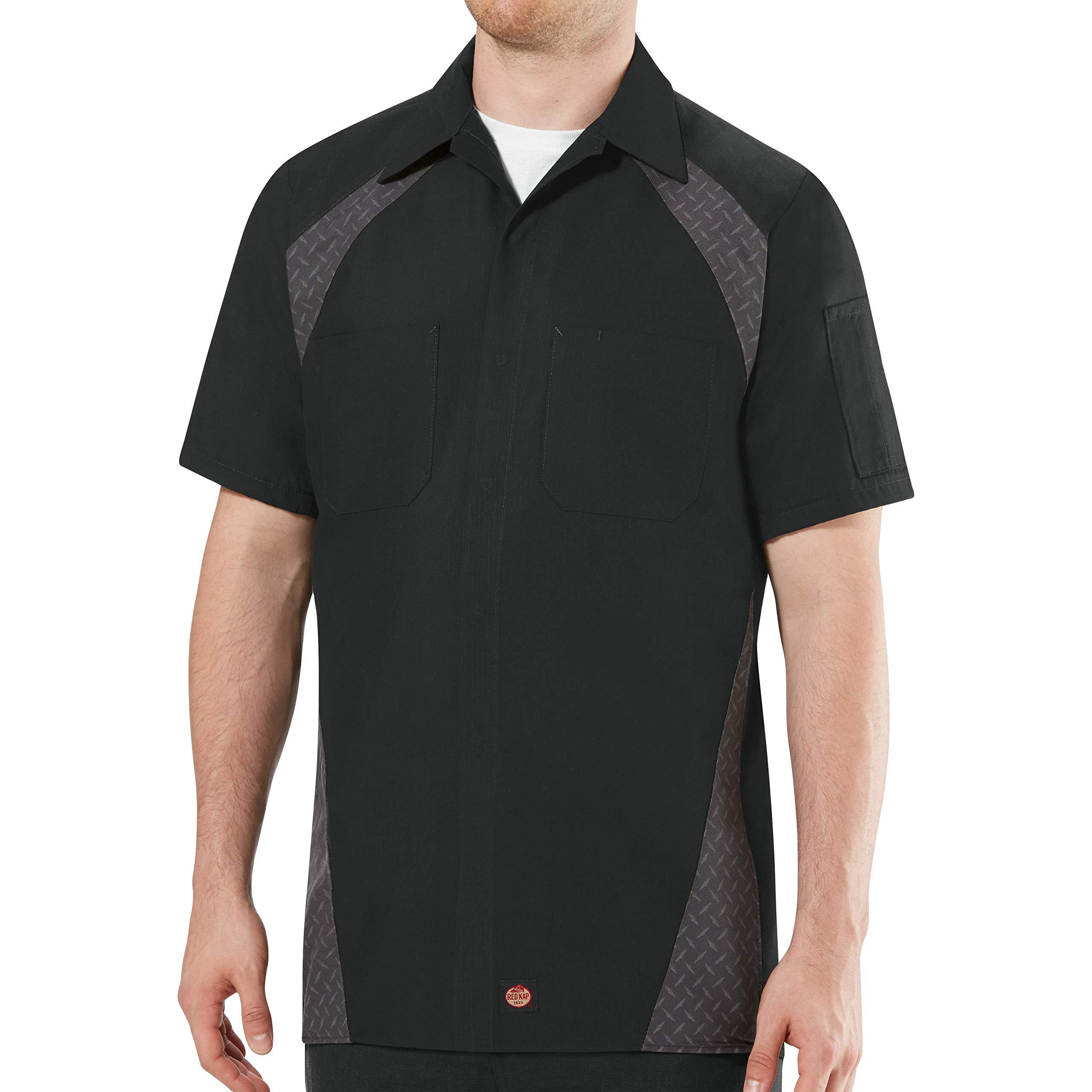 Red Kap Men's Diamond Plate Short-Sleeve Work Shirt