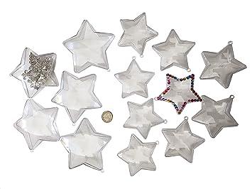 Christbaumkugeln Sterne.15 Stuck Acrylformen Acryl Sterne Teilbar 10 8cm Durchmesser Zum Aufhangen Acrylkugel Acryl Formen Zum Befullen Aufhangen Sterne Baum Behang Selbst