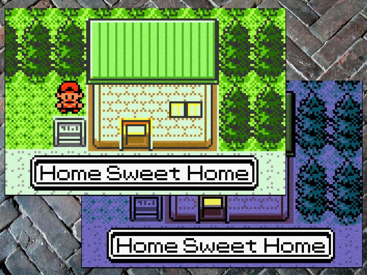 GG Promo Pokemon Gen II , Home Sweet Home – Doormat Welcome Floormat 24 x 36 , Night