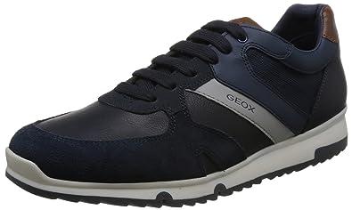 Geox U823XB Uomo Wilmer Sportlich Modischer Herren Sneaker, Schnürhalbschuh, Freizeitschuh, Atmungsaktiv