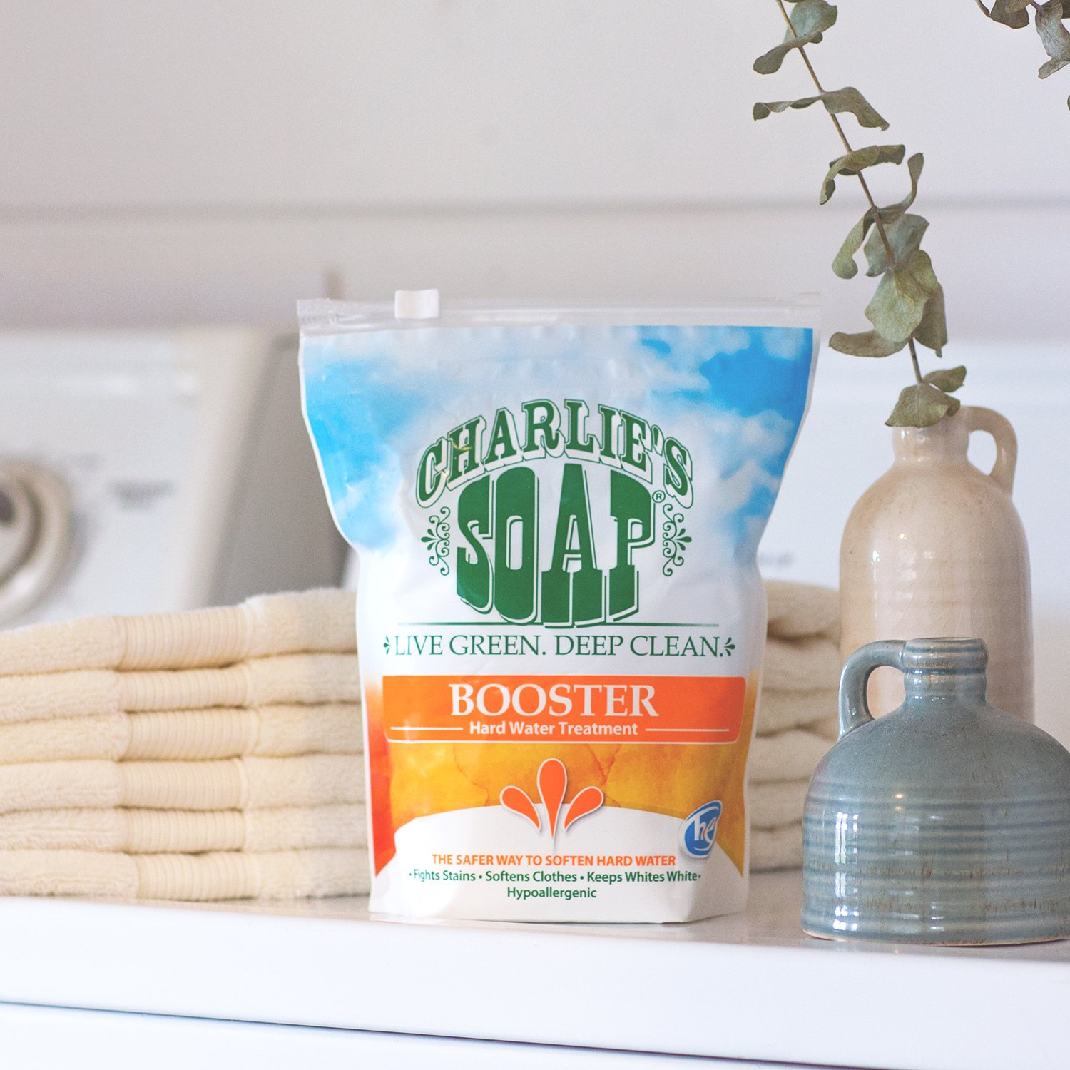 Amazon.com: Charlie\'s Soap Laundry Booster and Hard Water Treatment ...