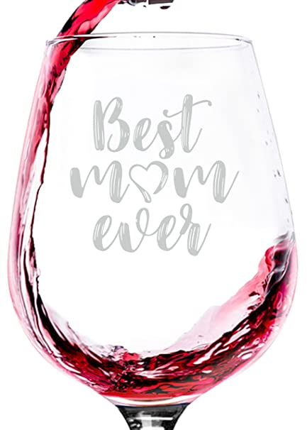 best mom ever wine glass unique christmas gifts for mom women cool birthday