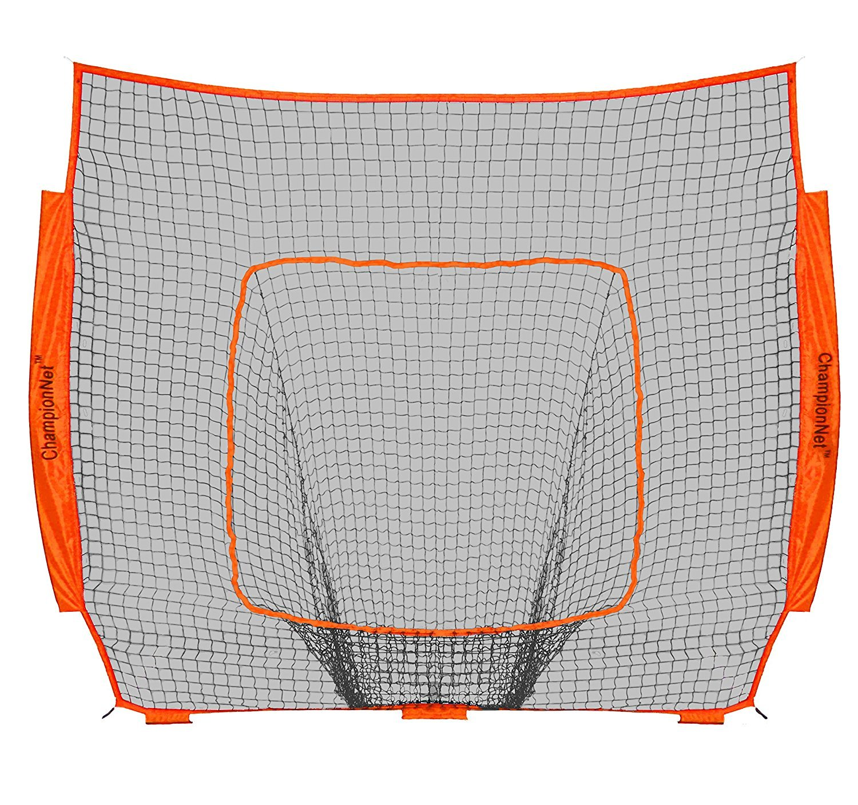 ChampionNet Baseball/Softball 7' x 7' Hitting Net Replacement NO Frame - Orange by ChampionNet