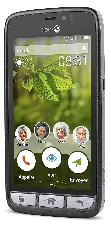 obtenir de nouveaux styles divers commercialisable Doro 8031 Smartphone débloqué 4G (Ecran : 4,5 pouces - 8 Go - Micro-SIM -  Android) Graphite
