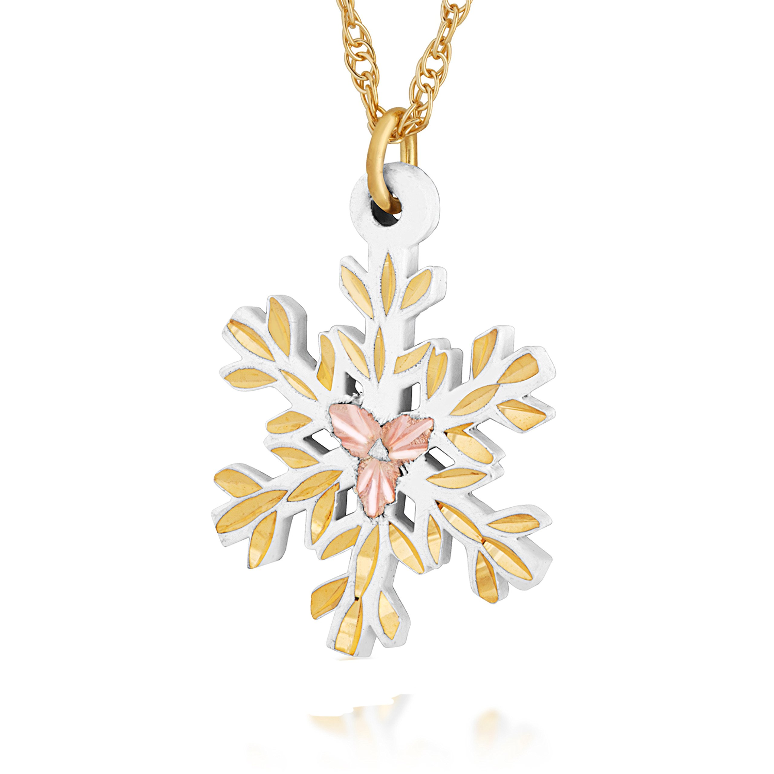 Gold Snow Flake Necklace