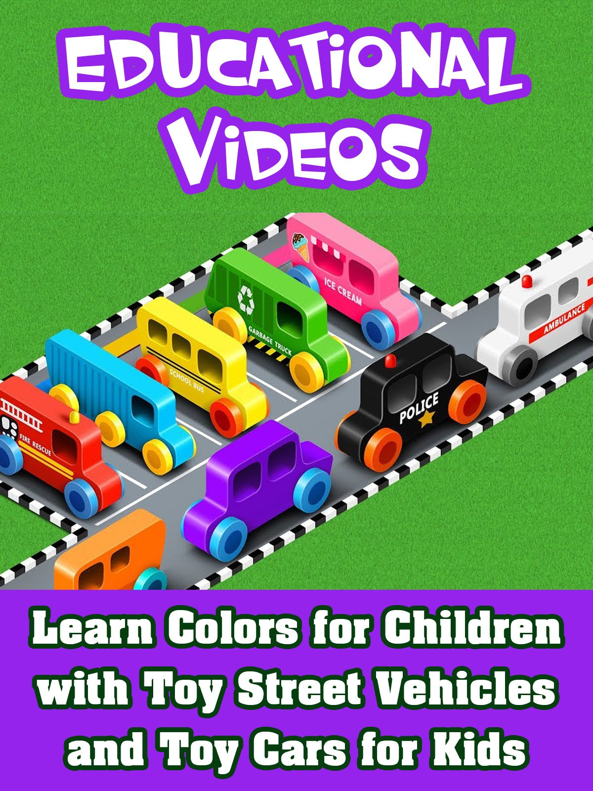 Learn Colors for Children with Toy Street Vehicles and Toy Cars for ...