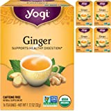 Yogi Tea - Ginger (4 Pack) - Supports Healthy Digestion - 64 Tea Bags