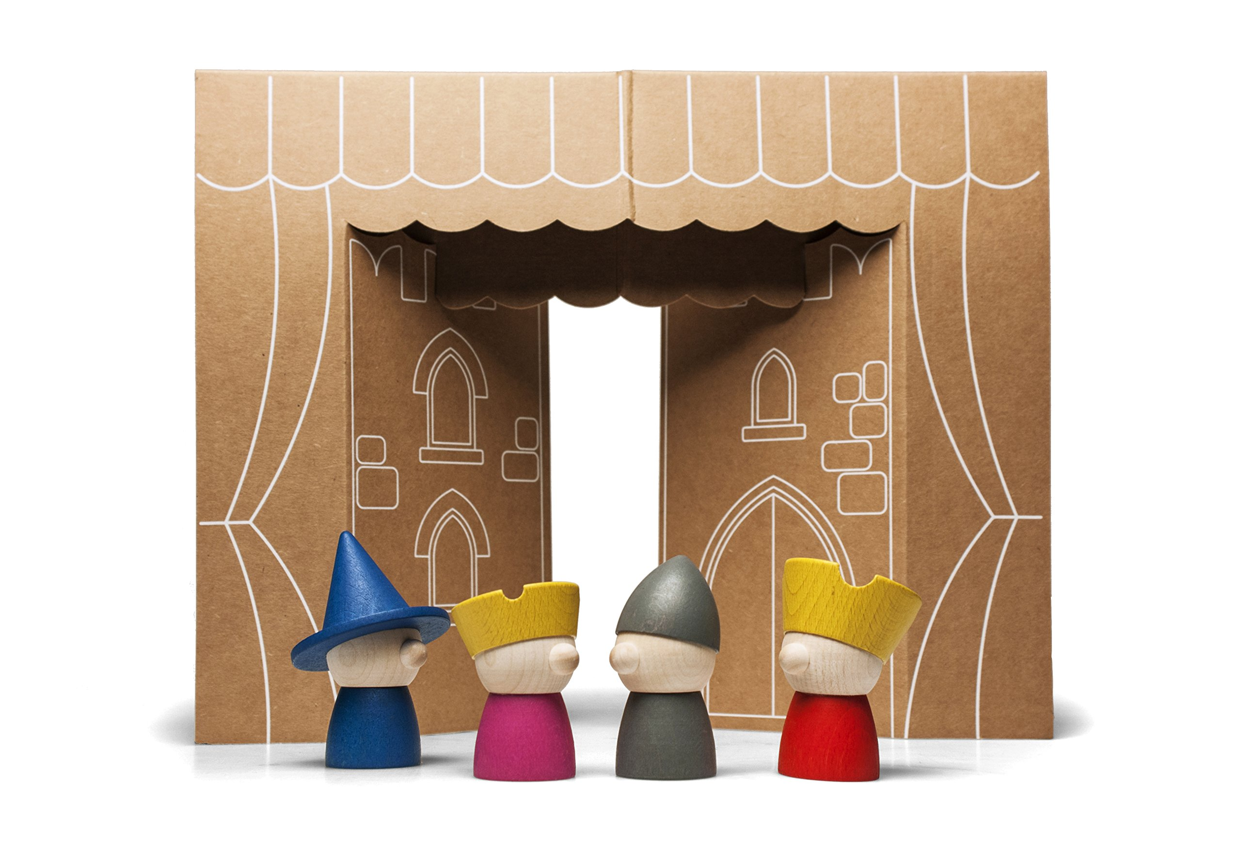 Storytellers - Wooden Finger Puppets - designed and made in Italy