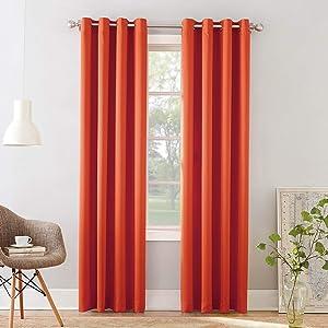 Sun Zero Barrow Energy Efficient Grommet Curtain Panel, 54