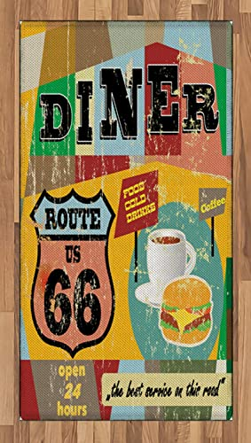 Lunarable Route 66 Area Rug
