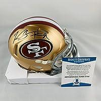 $163 » Kendrick Bourne Signed Mini Helmet - Speed Authentic Beckett Bas Coa #s17646 - Beckett Authentication