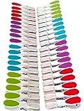 40 Stück Wäscheklammern mit Silikon - Softgrip, 8cm mehrfarbig