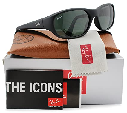 0a1bd9cf348 Image Unavailable. Image not available for. Color  Ray-Ban RB2016 Daddy-O  Sunglasses Matte Black w Crystal Green (W2578
