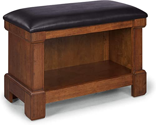 Aspen Rustic Cherry Storage Bench by Home Styles