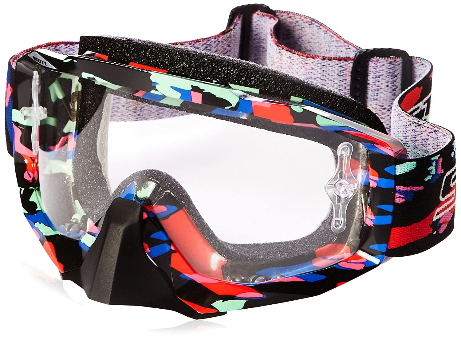 Tangent Red//Yellow, One Size Scott Sports Hustle Goggles with Works Clear AFC Lens 217782-3608041